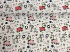 NEW! PolyCotton Fabric Small PUG DOG Red METRE Reduced Prices