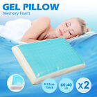 2X  Cool Gel Top Memory Foam Pillow Supreme Quality with Luxury Cover 60X40CM