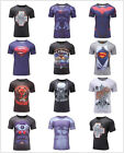 Mens 3D T-Shirts Marvel Superhero Compression Tights Gym Fitness Cycling Jersey