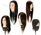 Salon Hairdressing Training Head with 50%-100% Real Hair Mannequin Doll + Clamp