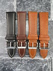 23mm VICTORINOX SWISS ARMY Brown COW LEATHER STRAP CAVALRY Thick Watch BAND BK