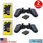 Купить New Black Wireless Twin Shock Game Controller for Sony PS2 Free Shipping