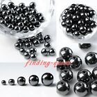 4/6/8/10/12mm Non-Magnetic Hematite Spacer Findings Ball Beads For Necklace DIY