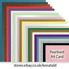 A4 Quality Pearlised Card Double Side. Choose Colour and Quantity.