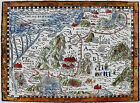 Vintage Bible Map Exodus Egypt Canaan Lands The Holy Land Moses Art Poster Print