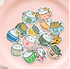 NEW Cartoon Anime Nature Cat Flowers Coffee Fashion Food clipart Sticker lots
