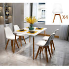 Small Kitchen Table and Chairs Dinette Dining Room 5 Piece Wood Modern US STOCk