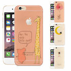 Funny Print TPU Soft Hard Ultra Thin Phone Case Covers For IPhone 4/5/6s/7 Plus