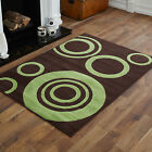 SMALL MEDIUM MODERN LARGE CHOCOLATE BROWN GREEN PATTERN  BEST QUALITY RUGS SALE!