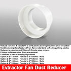 "Extractor Fan Ducting Tube Reducer Fan PVC 100 125 150 & 200mm 4"" 5"" 6"" 8"""