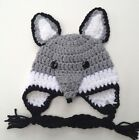 CROCHET WOLF BABY HAT infant toddler child adult cap beanie  photo prop USA