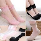 Ultra Thin Women's Transparent Socks Breathable Lady Crystal Lace Ankle Socks