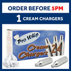 8g Whipped Cream Chargers NO2 NOS Pure Nitrous Oxide Cannisters & Add Dispenser