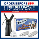 MOSA 8g Whipped Cream Chargers NO2 NOS N2O Cannisters Capsule & Add Dispenser