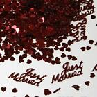 380pcs Table Decor Heart Shape Scatters Confetti Just Married Wedding Party