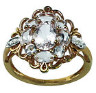 2.37 Ct. Morganite Exotic Ring Natural 925 Silver Wedding Anniversary Jewelry