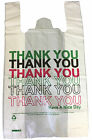 "STRONG PLASTIC CARRIER BAGS 11X17X19"" 22MU THANK YOU HAVE A NICE DAY PRINTED"