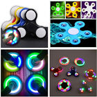 LED light Fidget Hand Spinner Torqbar Brass Finger Toy EDC Focus Gyro Toys Gift<