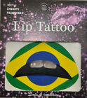Temporary Lip Tattoo Brazil Flag Carnival Olympics Sticker Festival CLEARANCE