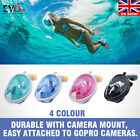 Swimming Full Face Mask Surface Diving Snorkel Scuba for GoPro Swim S/M L/XL
