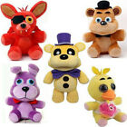 5PCS FNAF Five Nights at Freddy's Golden Bonnie Freddy Chica Foxy Plush Toy Doll