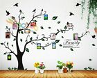 """Wall Decal Sticker Removable Photo Frame Tree With Family Branches Quote 80""""H"""