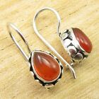 Collectible CARNELIAN PRETTY Earrings Silver Plated Jewelry 1* WHOLESALE PRICE