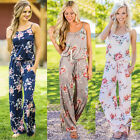 New Women Spaghetti Strap Floral Print Romper Jumpsuit Sleeveless Playsuit Beach