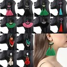 Fashion Lady Charm Bead Tassel Pendant Drop Statement Dangle Women Earrings  hot