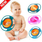 Baby Feeding Dish Cute Baby Gyro Bowl Universal 360 Rotate Spill-Proof Bowl USA