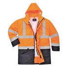 PortWest Mens Hi-Vis Executive 5-in-1 Jacket Various Color and Size S768
