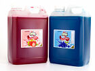 2.5 Litre Blue Raspberry and Strawberry Cans Bulk Buy Slush Syrup Catering
