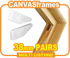 Wooden Canvas Frames, Stretcher Bars, Pine Gallery Bars 38mm - SOLD IN PAIRS