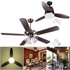 "42"" 48"" 52"" Flush Mount Ceiling Fan Light Kit with Remote Control 3 or 5 Blades"