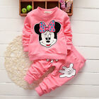 Kids Baby Girls Clothes Minnie Mouse Sweatshirt Tops Pants Tracksuit Outfits Set