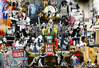 Dark Collage Greatest Banksy Work Montage Posters Wall Pictures Quality Paper