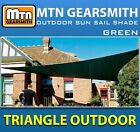 BRAND NEW GREEN TRIANGLE OUTDOOR SUN SAIL SHADE CANOPY COVER - CHOOSE