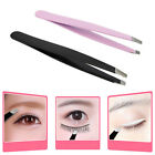 Stainless Steel Eyebrow Tweezer Slant Tip Facial Hair Remover Professional Tool
