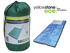 Yellowstone Envelope Sleeping Bag Multi Colour With Carry Bag Camping Adventure