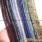 Natural Assorted Stones Faceted Rondelle Spacer Beads For Jewelry Making 15'' YB