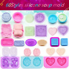 3D Silicone Soap Bake Mold Mould Homemade Candle Craft DIY Decor Tray Tool