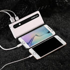 Universal 50000mAh 2 USB Power Bank External LED Battery Charger For Cell Phones