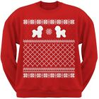 Bichon Frise Red Adult Ugly Christmas Sweater Crew Neck Sweatshirt
