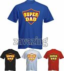 SUPER DAD MEN T-SHIRT FATHERS DAY PRESENT GIFT FATHER HERO DADDY PAPA SUPERDAD
