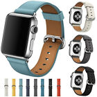 Premium Leather Wristwatch Straps Bracelet Bands For Apple Watch iWatch 38/42mm