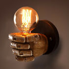 Retro 1-Light Clenched Fist Wall Light Fixture Sconce Creative Indoor Wall Lamp