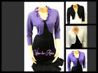 New Ladies Fine Knit Frill Vintage Glamour 1950's style  Bolero Shrug Cardigan