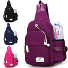 Travel - Men Women Nylon Crossbody Shoulder Chest Cycle Sling Bag Daily Travel Backpack