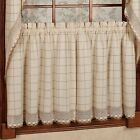 Loon Peak® Burrigan Cotton Kitchen Window Tier Curtain Set of 2