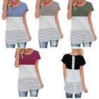 Fashion Women's Lady Summer Short Sleeve Loose Blouse Casual Lace Tops T-Shirt
